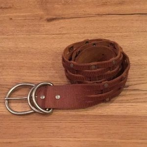 Madewell Genuine Leather Belt with Metal Studs